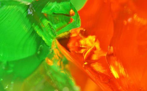Orange and Gree Jell-O