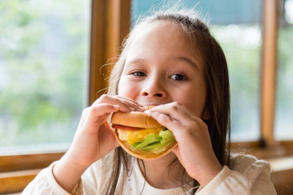 Dog Eats Burger From Girl