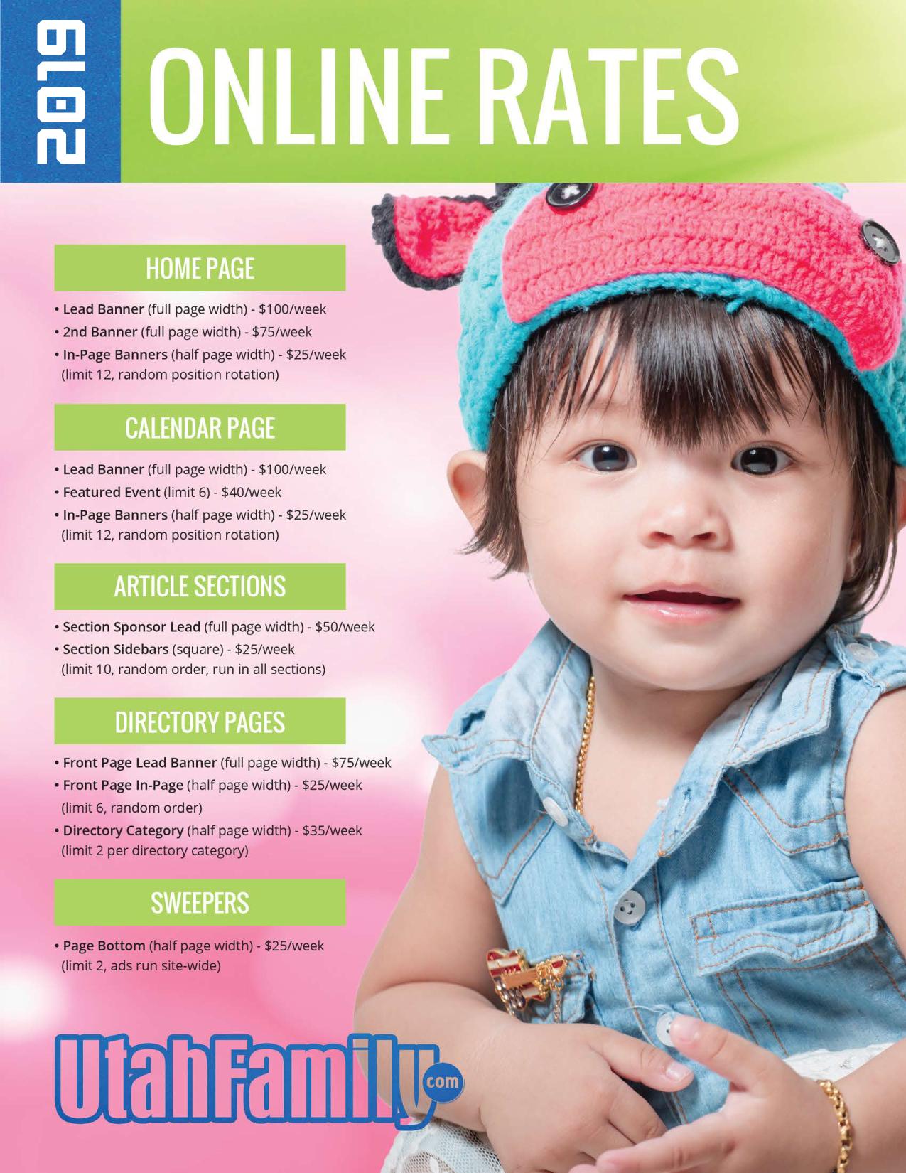 Advertise your Utah business or Utah event with Utah Family