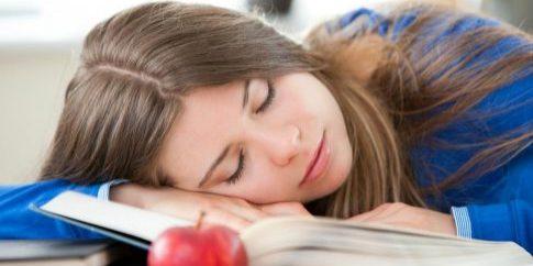 Teen Sleeping at School